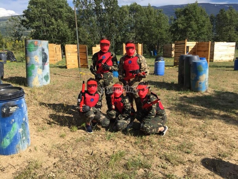 Red team posing