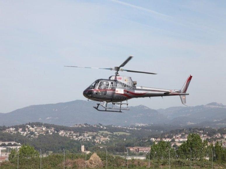 Helicoptero en Montmelo