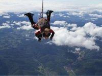 Parachuting with an instructor