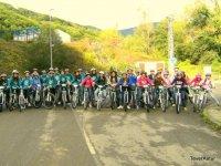 Gruppo ciclistico nella penisola settentrionale