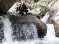 山沟中的天然峡谷