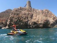 Touring the Costa de Almería on a jet ski