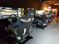 Racing cars in simulator