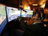 Having fun in the driving simulator