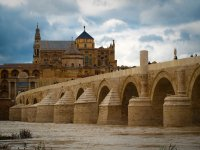Roman Bridge through which the Guadalquivir passes