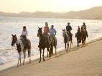 Rutas a caballo por la playa