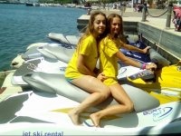 Rented jet ski in the Costa Dorada