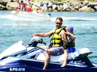 Family in the jet ski