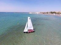 Learning sailing in Santa Pola