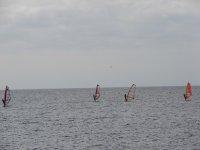 Windsurfistas en el Atlantico