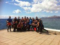 Gruppo di immersioni a Lanzarote