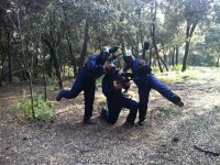 Paintball in team