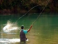 Practice fly fishing
