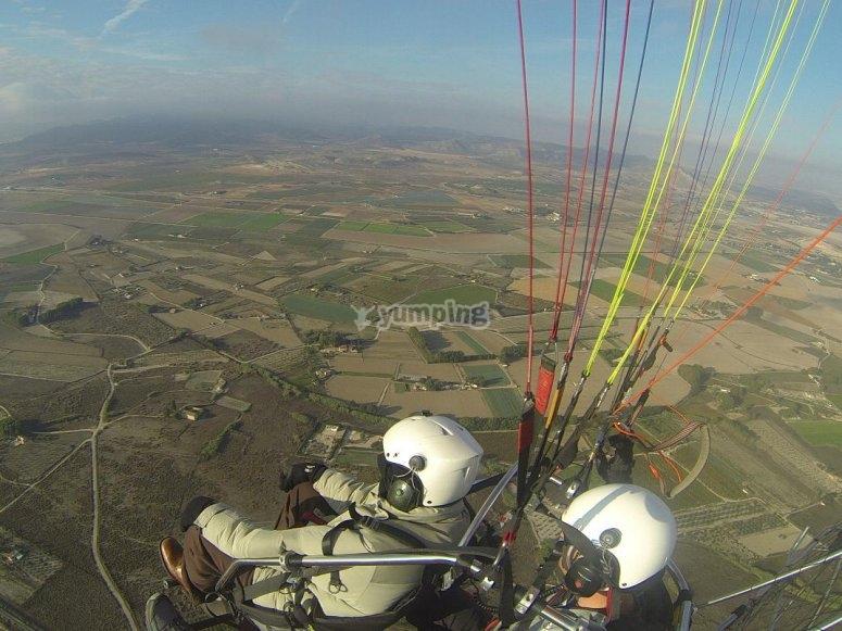 Volo di paramotore ad Alicante