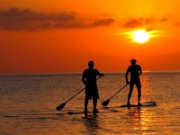 Paddle Surf at sunset from L'Ametlla de Mar