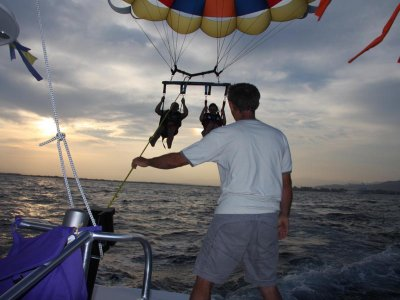 2-Seater Parasailing in the Mediterranean Sea, 15m