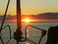 Una puesta de sol maravillosa
