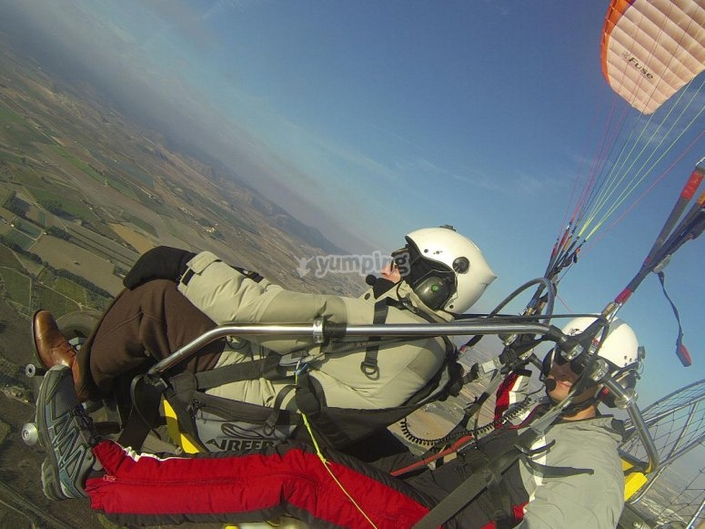 Paramotor flight experience