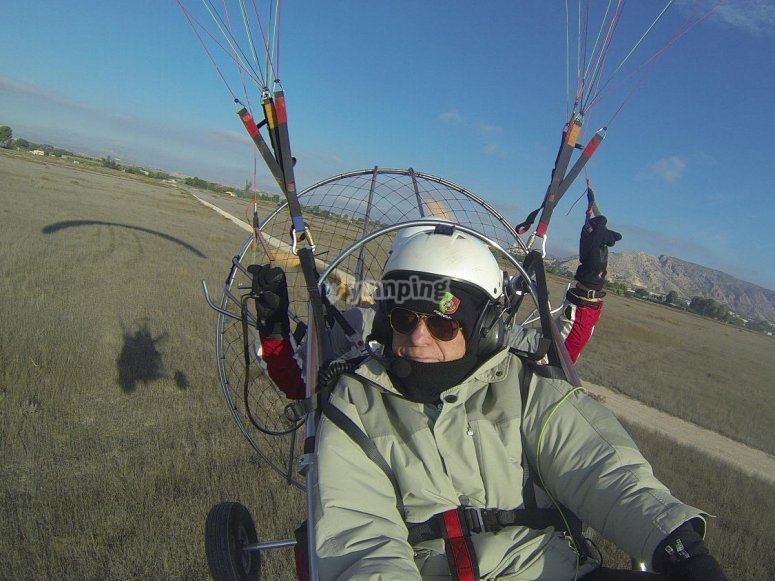 Two-seater paramotor