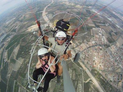 Paramotor flight in Santa Pola photos + video