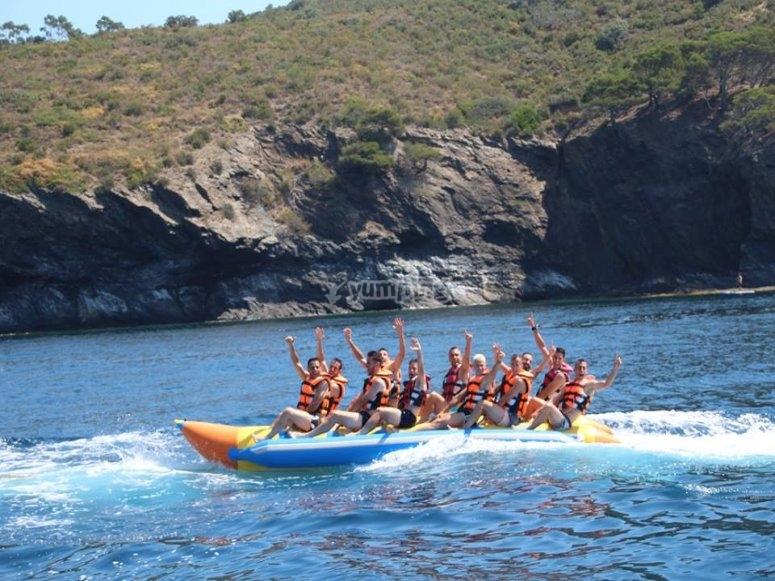 Grupo en banana boat