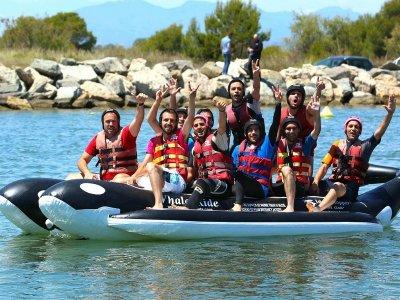 Giro in banana boat nel Mediterraneo 15 min
