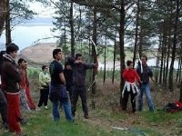 group in forest