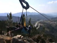 thrown into the zip line