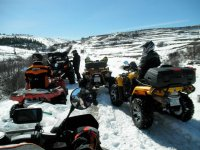 Among the snow with the quads