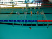Material for training in the pool