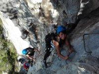 Climbing the ferrata from El Astillero