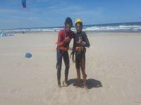 Con el profesor de kite