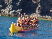 Divertimento sulla banana boat