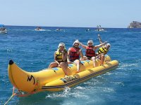 Making banana boat in Pineda de Mar beach