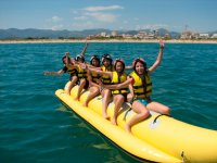 Getting ready to start the banana boat