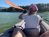 Pagaiando in kayak