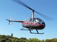 R44 in the air