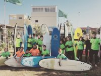 Surf students in Valencia