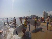 Al agua con las tablas de paddle surf