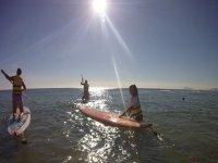 Ruta de SUP en la playa de Gandía