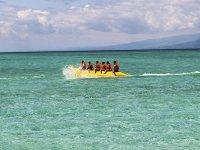 Banana boat en las cristalinas aguas de Cadiz