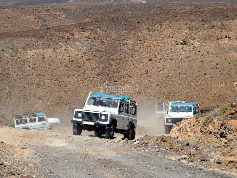 Travesia en jeep