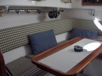 Interiors of one of the boats