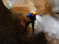 Rappelling waterfall in Mascun