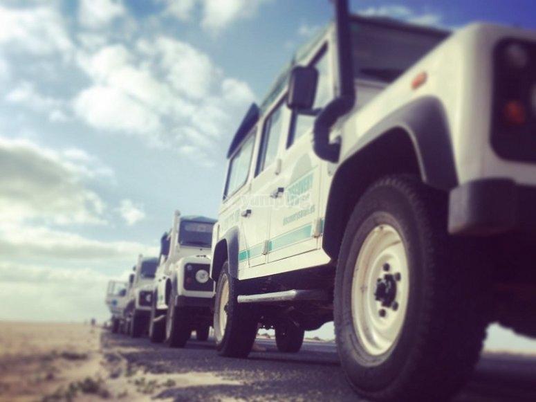 Convoy de jeeps