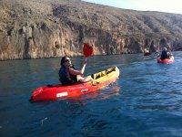 Kayak en la marina