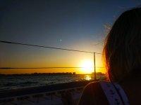 阿萨哈海岸(Costa del Azahar)的日落