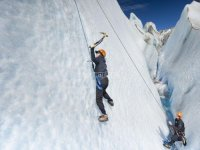 Climbing in the snow