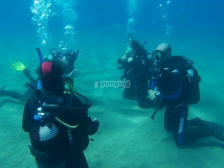 Ejercicios bajo el agua