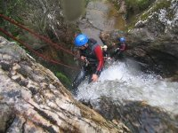 Small rappels through the waterfalls
